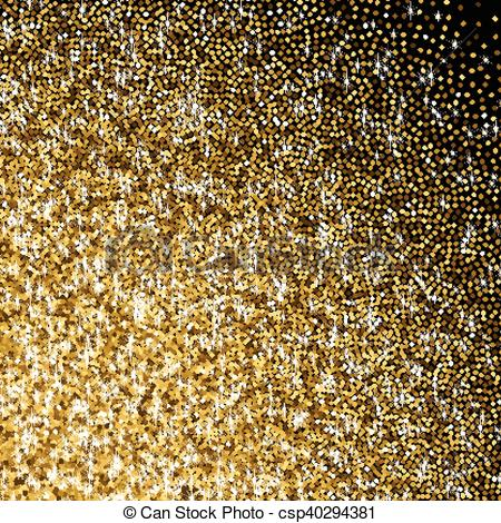 Golden with scattered sparkles. Glitter clipart gradient free