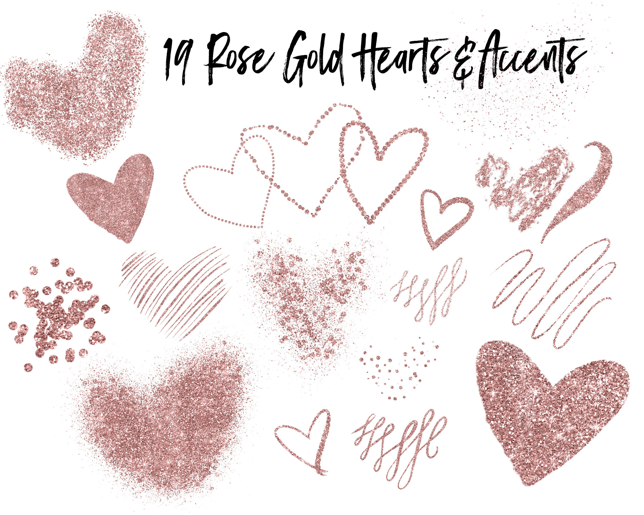 Glitter clipart rose gold heart. Png this is a