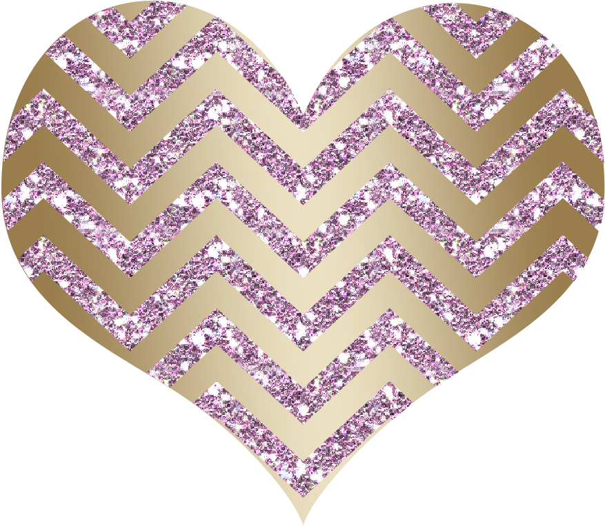 Glitter clipart rose gold heart. Chevron baby pink and