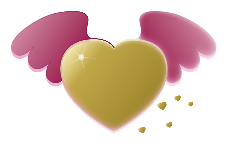 Wing svg traceable. Free gold heart clipart