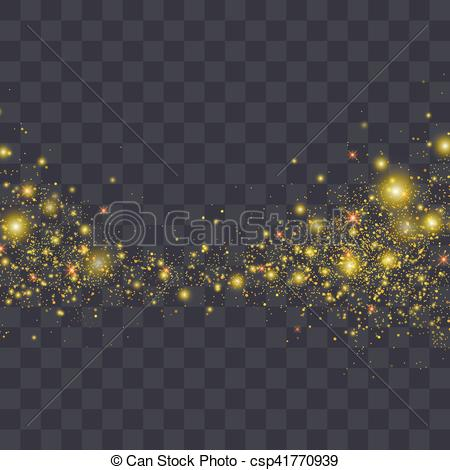 Glitter clipart sparks. Vector gold particles background clipart freeuse download