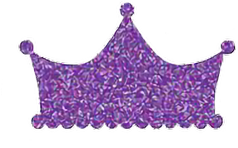 Glitter crown png. Purple sparkly shiny royal