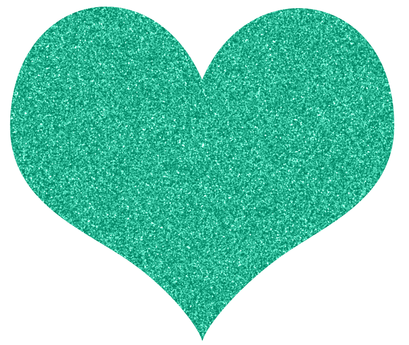 Heart, png turquoise. Free glitter hearts clipart