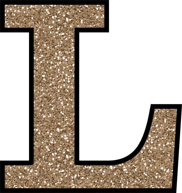 Cursive letter l png. Glitter without the glue