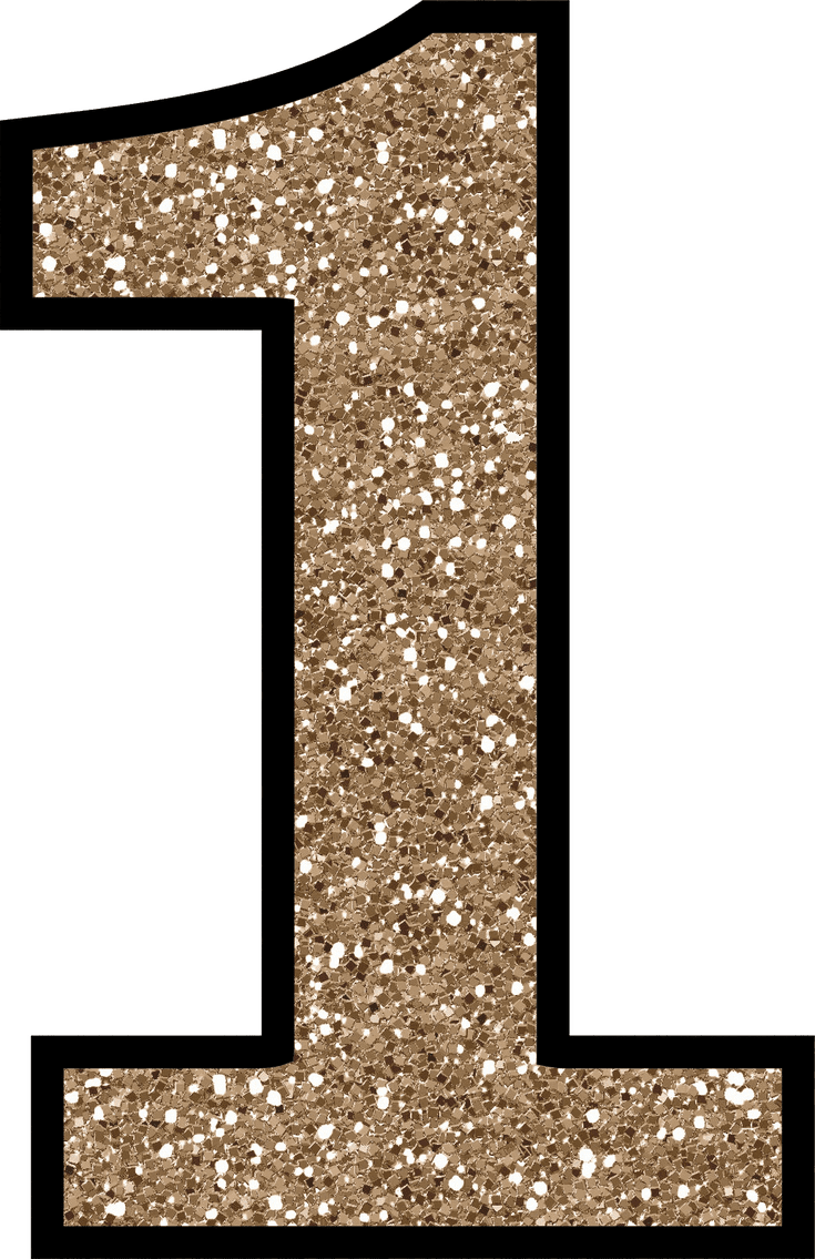 Glitter numbers png. Without the mess free