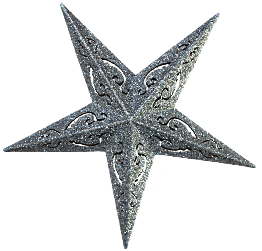 Glitter star png. Holiday stock updated by