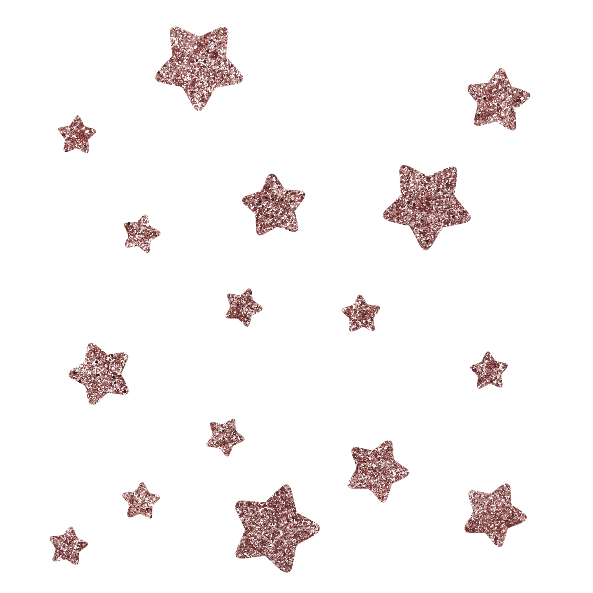 Glitter star png. Rose gold wall stickers