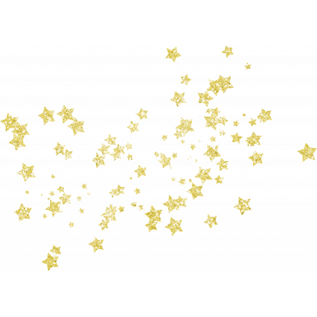 Glitter stars png. Spookalicious yellow star stamp