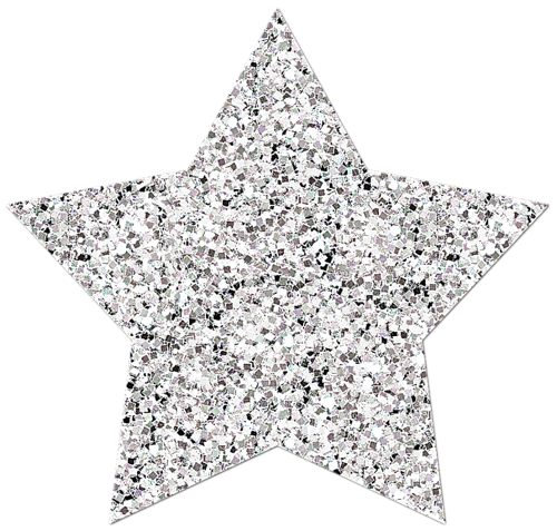 Glitter stars png. Silver image