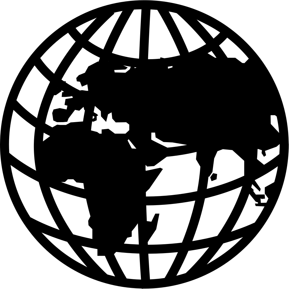 Globe grid png. Earth with and continents