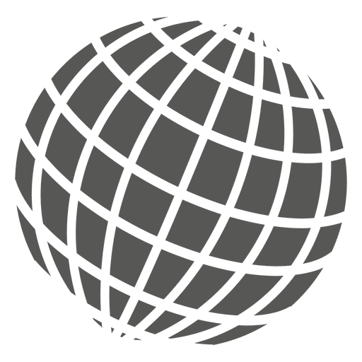Globe grid png. On icon transparent svg