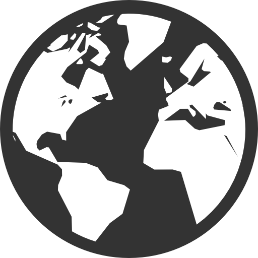 globe png black and white #66090544