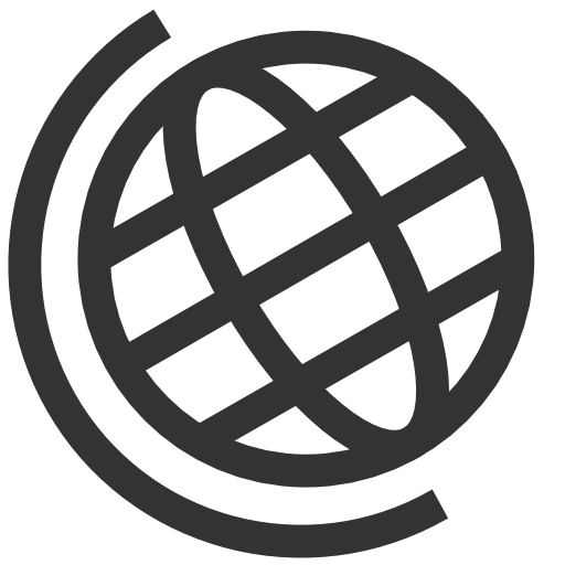 Globe png black and white. Android earth icon s