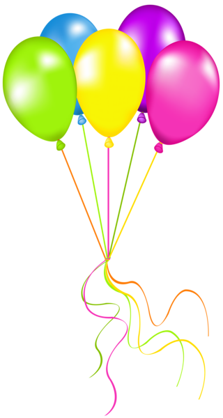 Globos dibujo png. Neon balloons picture clip
