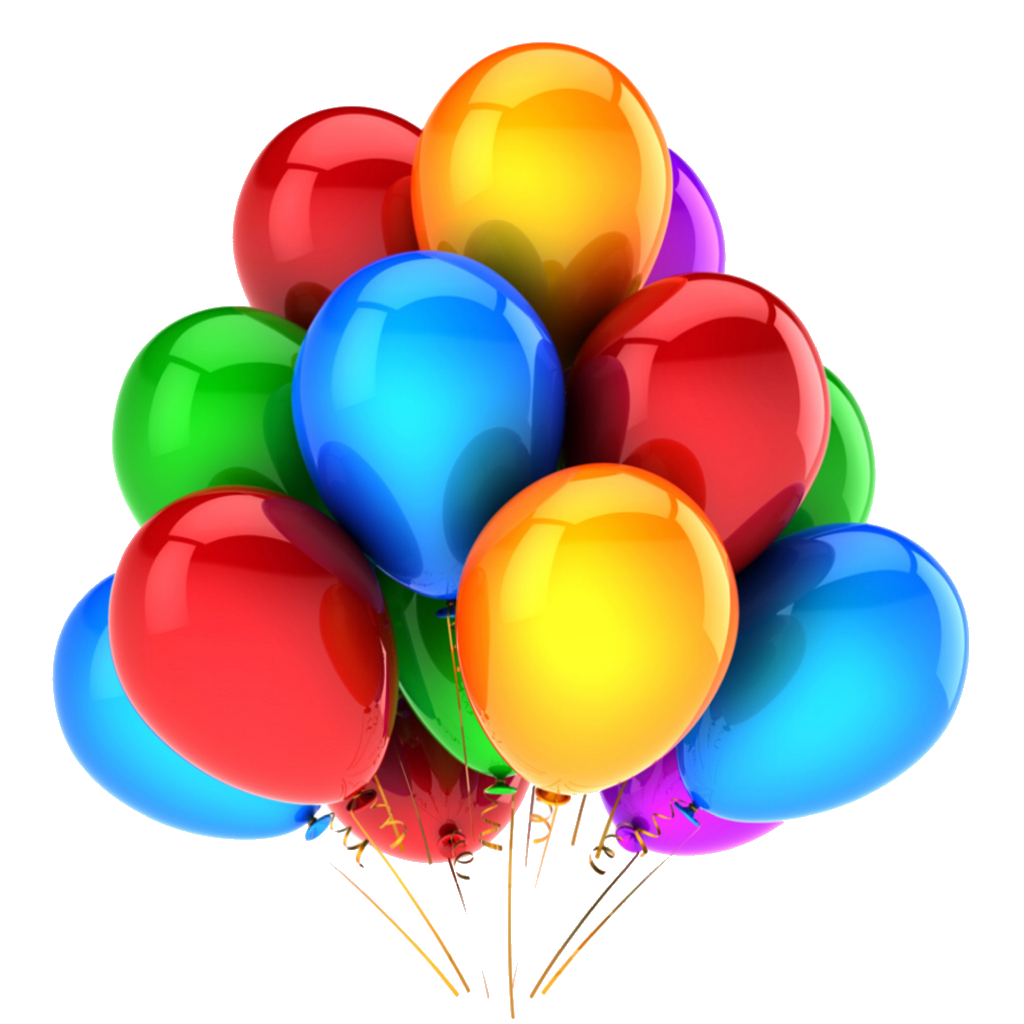 Globos png. Colourful sticker tumblr hbd