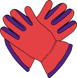 transparent gloves clip art