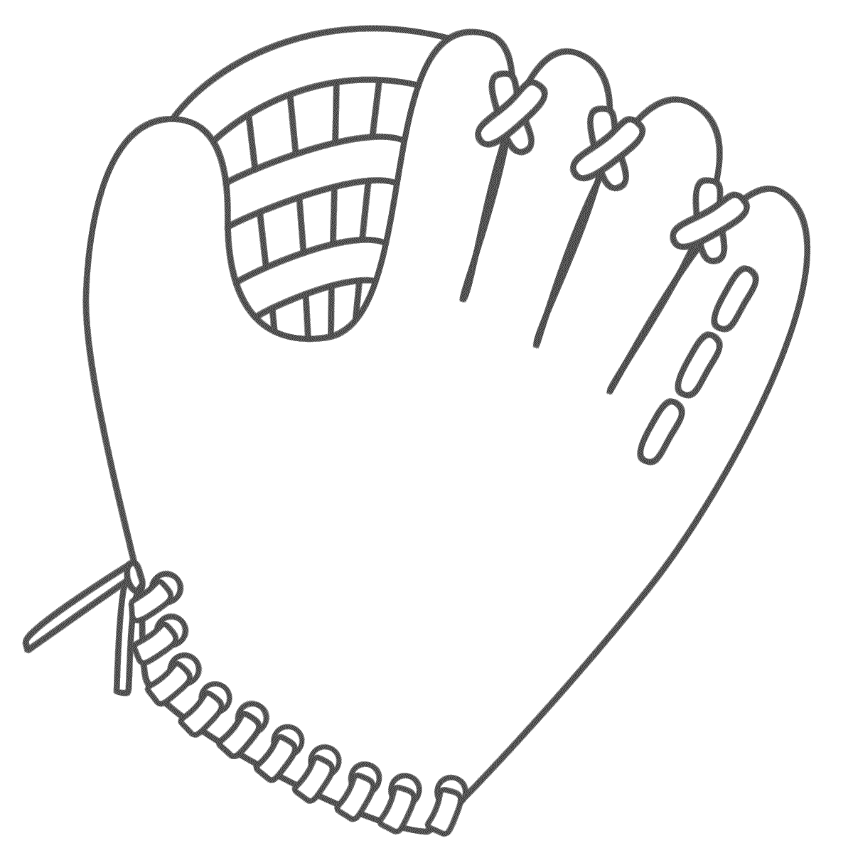 Glove clipart colouring. Baseball coloring pages getcoloringpages