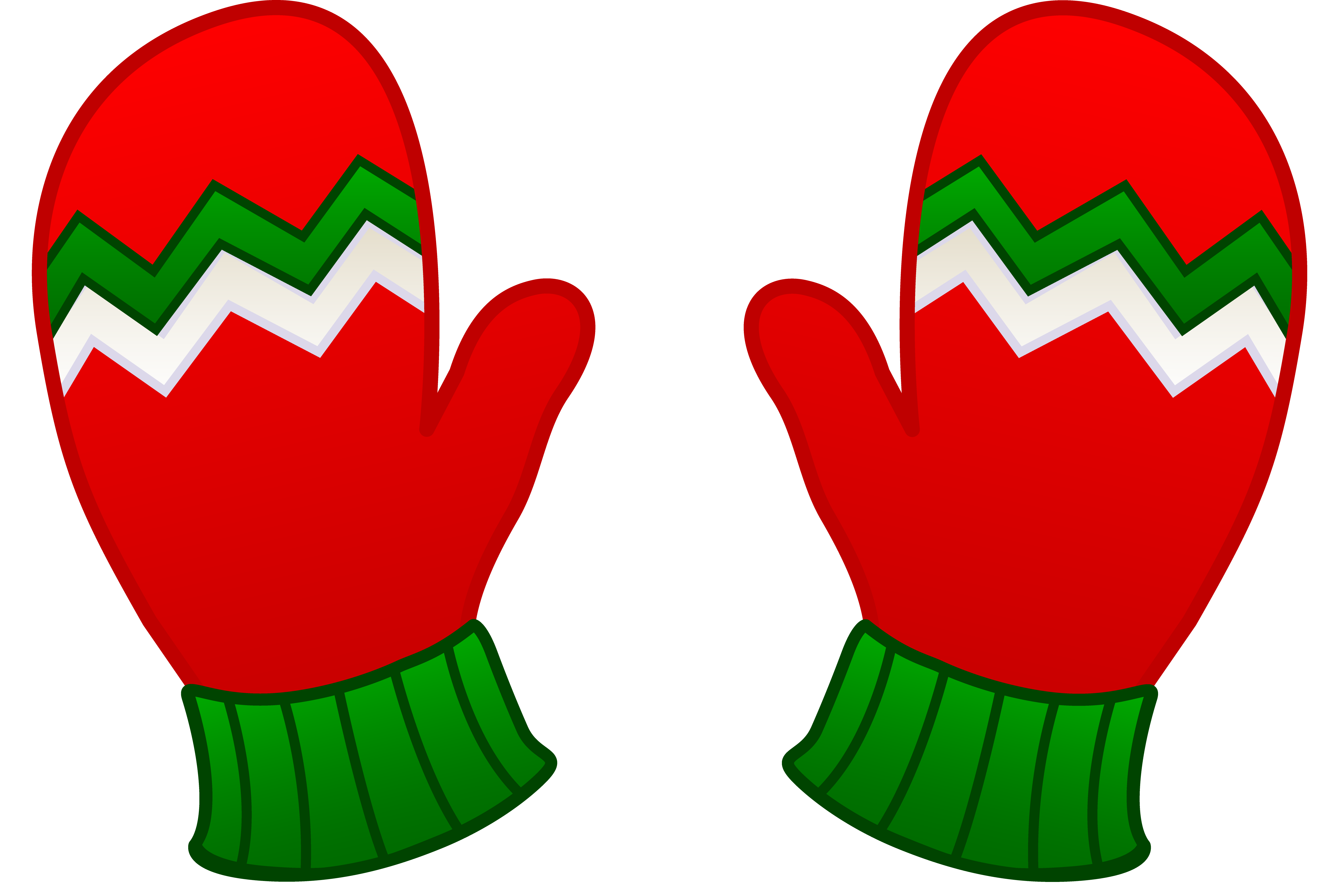 Mittens and . Gloves clipart royalty free