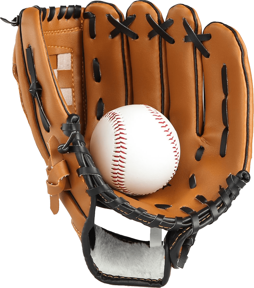 Glove clipart transparent background. Baseball and ball png