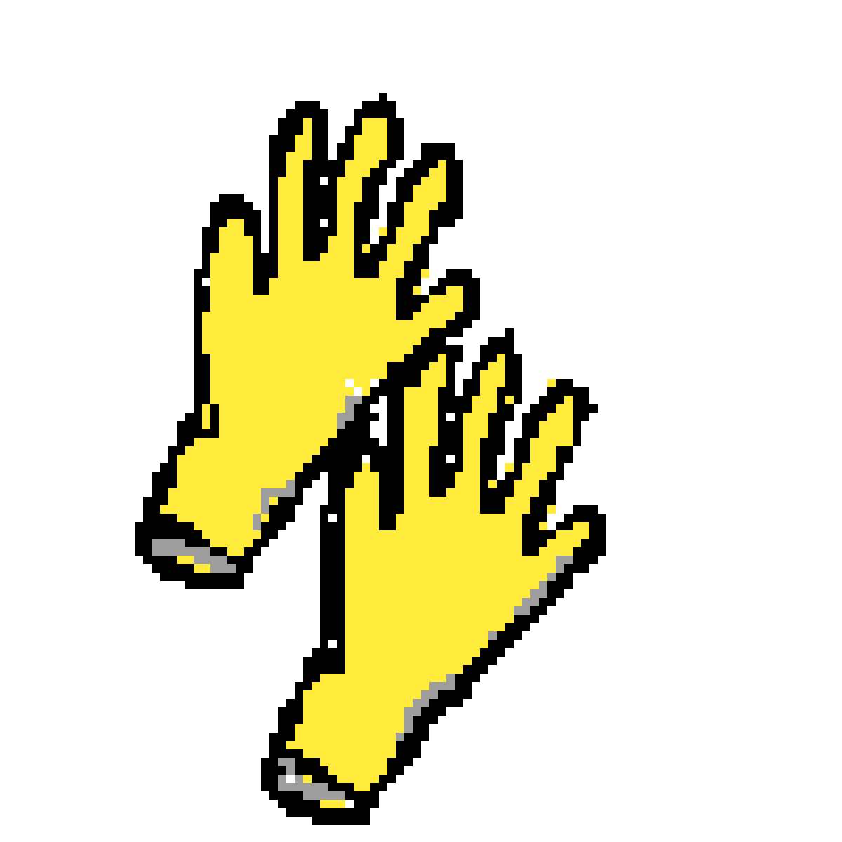 Glove clipart yellow glove. Pixilart gloves by anonymous