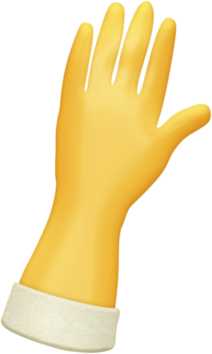 Glove clipart yellow glove. A perfect mess time