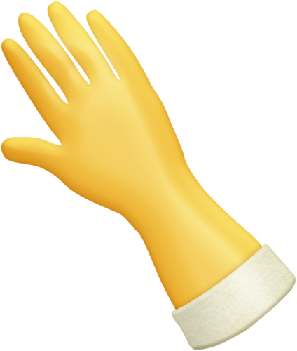 Transparent gloves cleaning. Rubber glove clip art