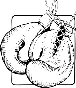 Glove vector animated. Boxing gloves outline clip