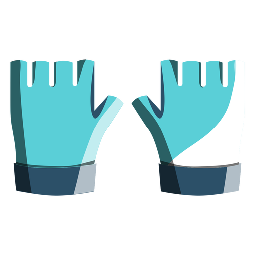 Glove vector bike. Cycling gloves icon transparent