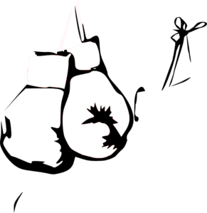 Glove vector black and white. Boxing gloves clip art