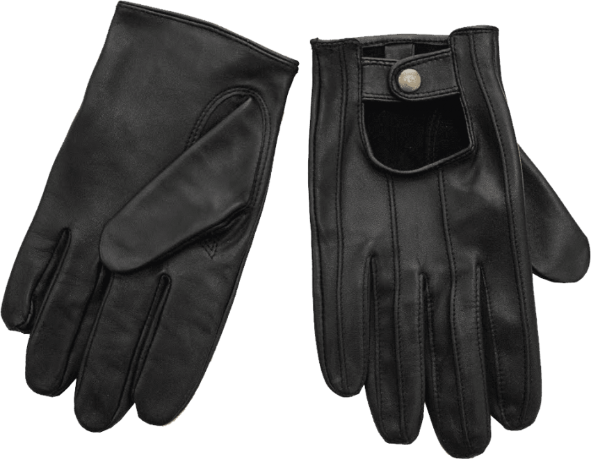 Glove vector golf. Black leather gloves png