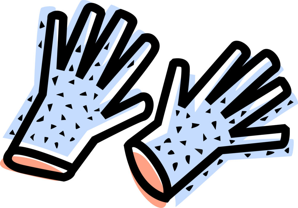 Glove vector safety. Work gloves image illustration