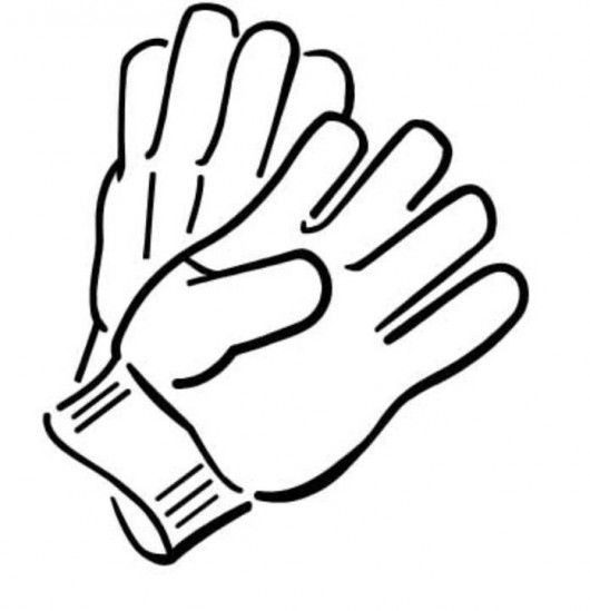 Clip art work . Gloves clipart banner free library