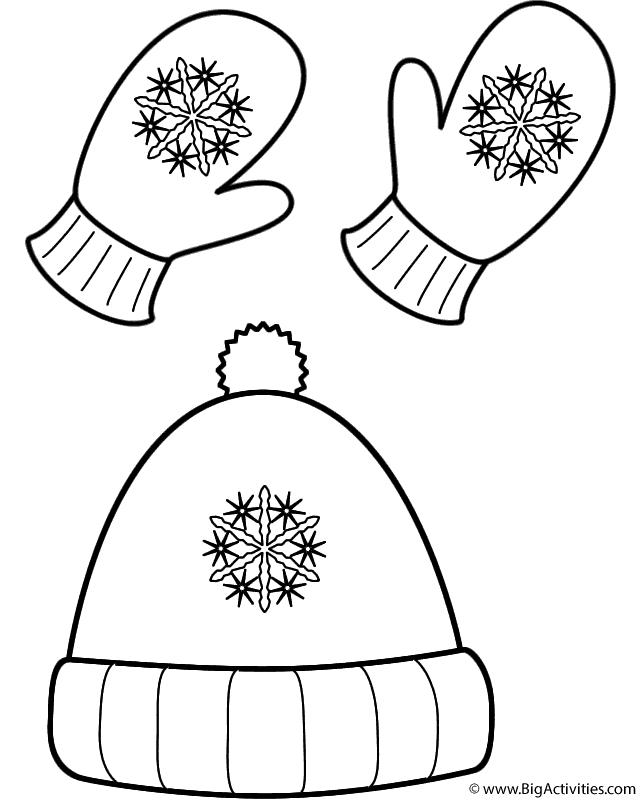 Gloves clipart beanie. Winter hat drawing at