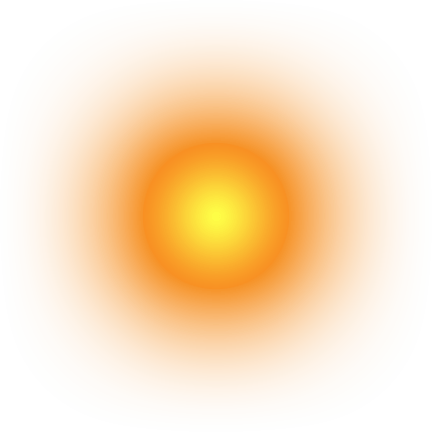Circle glow png. Glowing sun transparent stickpng