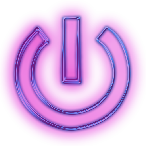 Glowing buttons png. Image purple neon icon