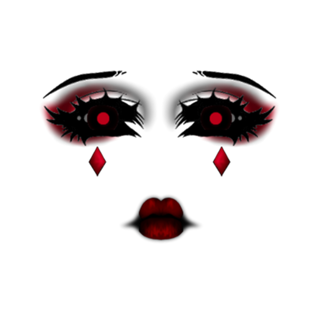 Scary eyes png. Face makeup goth dark