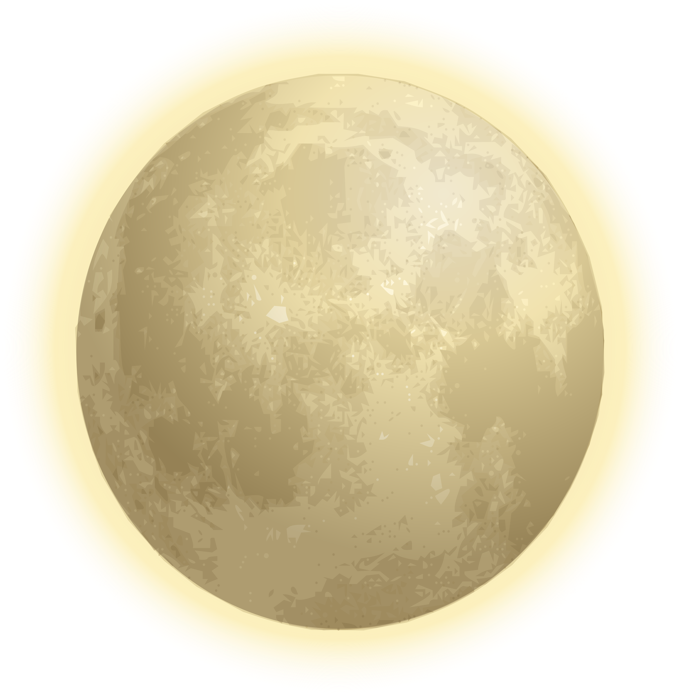 Glowing halo png. Luna with icons free