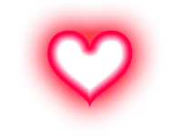 Glowing heart png. Photoscape photoshop effects and