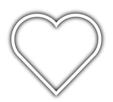 Glowing heart png. Outline transparent stickpng
