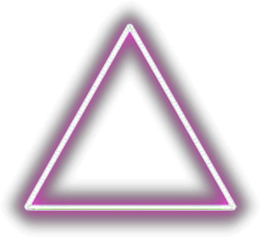 Neon transparent glowing triangle. Download hd ftestickers geometricshapes