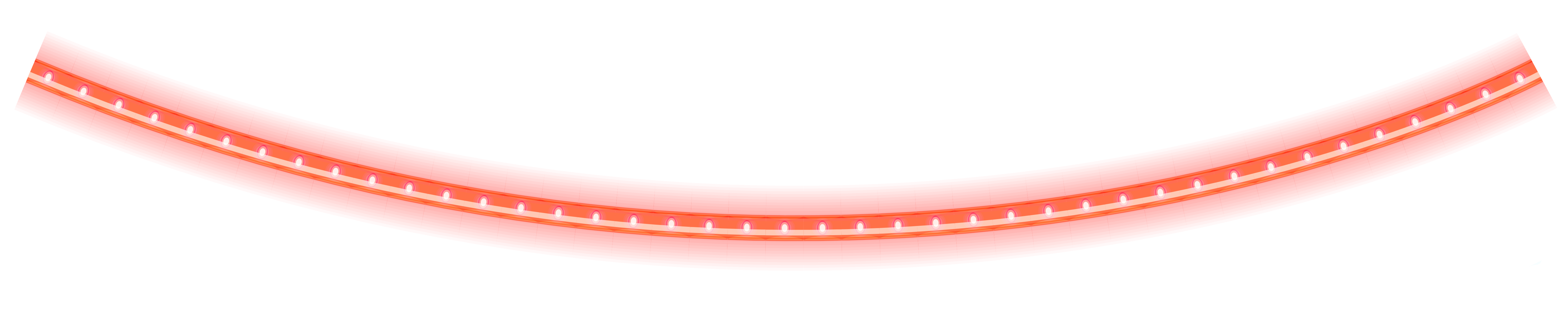 Glowing line png. Red christmas tube clipart