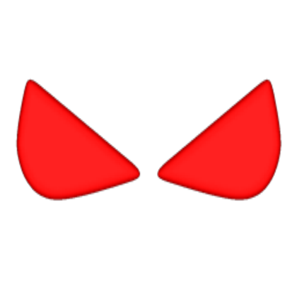 Glowing red eyes png. Roblox