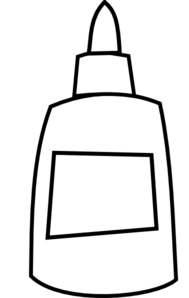 Glue clipart school glue. Black and white