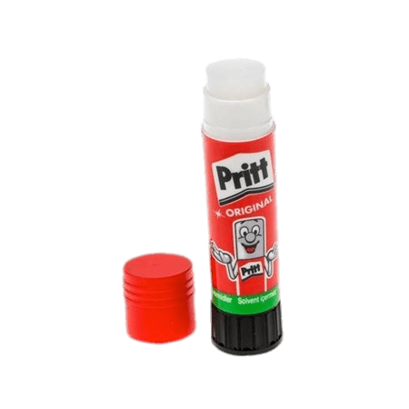 Crayola washable glue stick png. Pritt with cap off