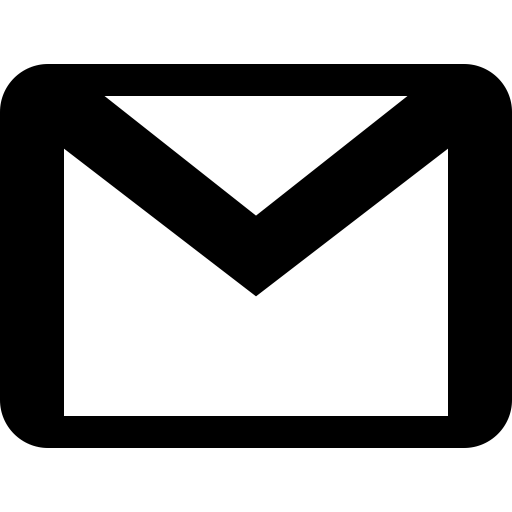 Gmail logo black and white png. Icon free social media