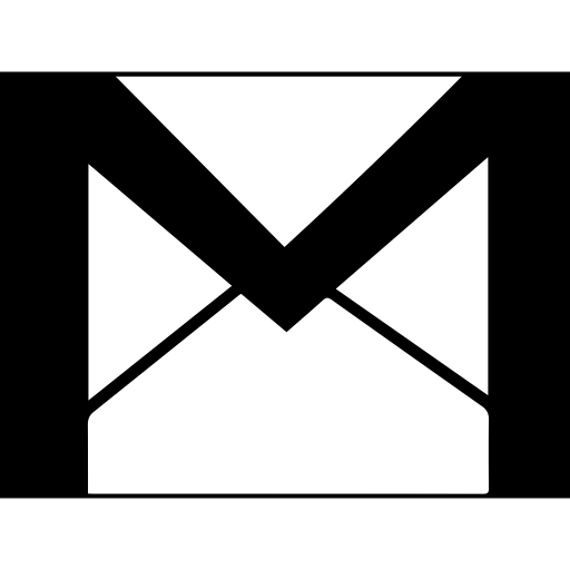 Gmail logo black and white png. Glyph icon ico