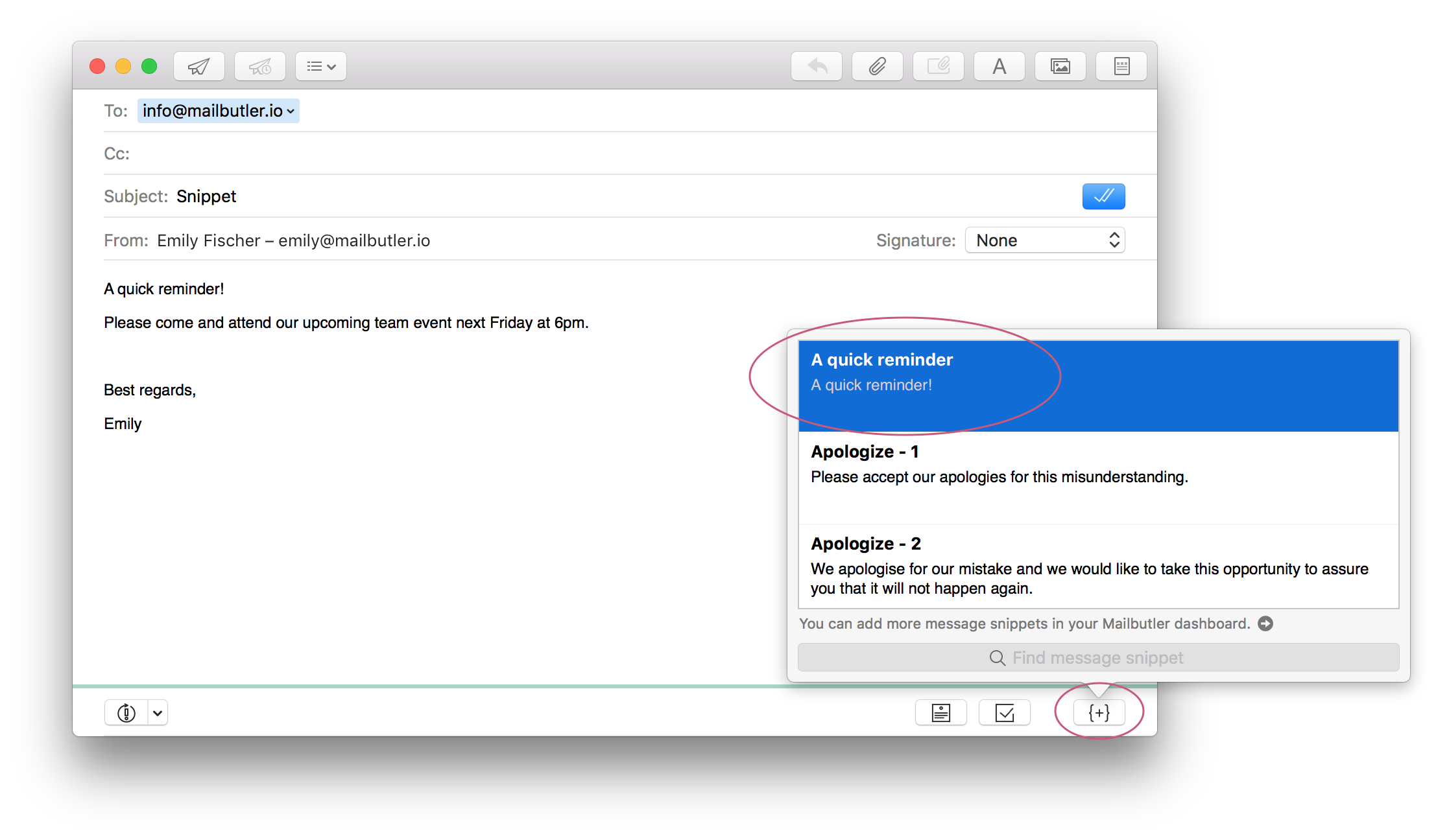 Gmail not loading png snippets. How to use message