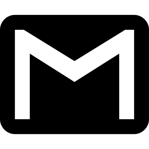 gmail logo black and white png