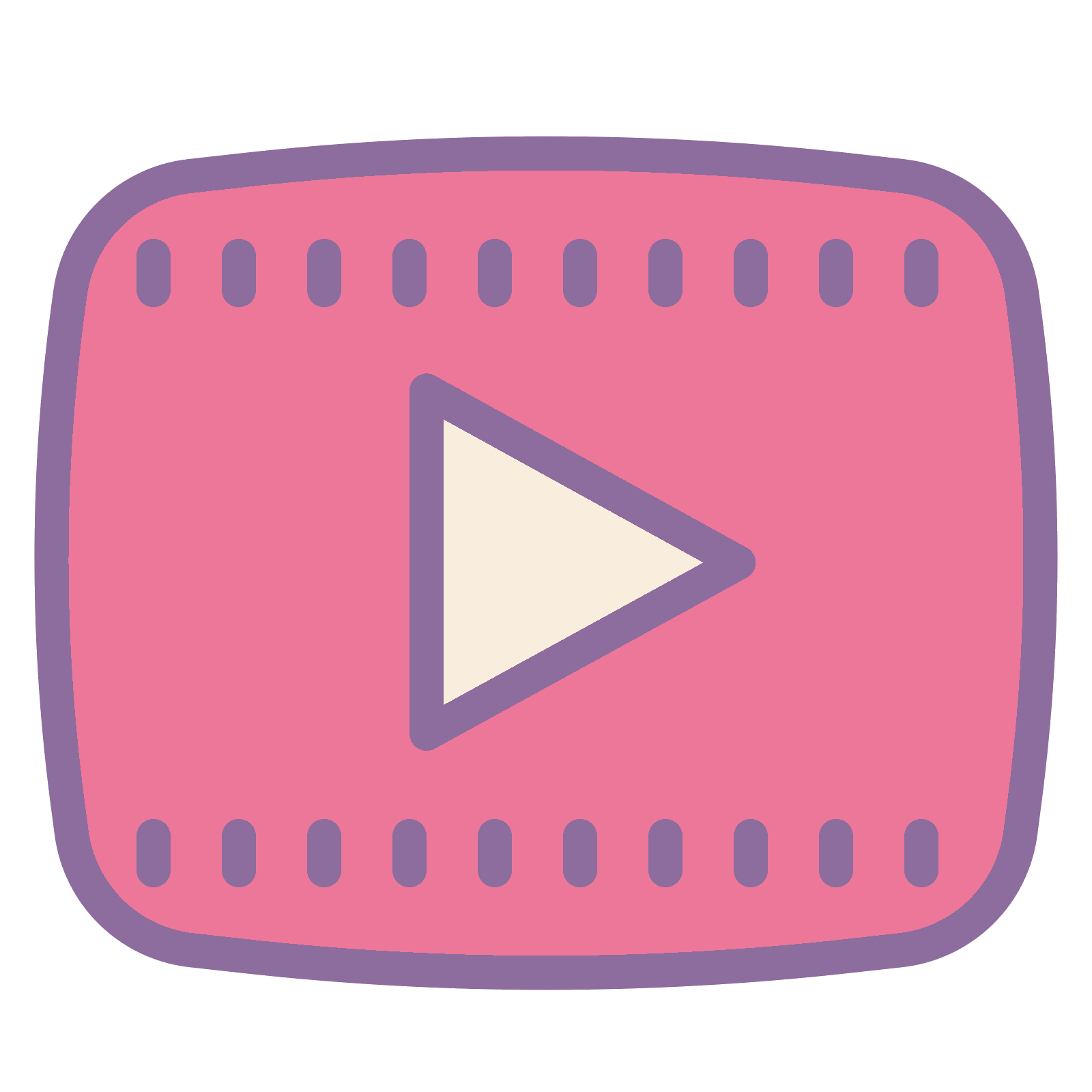 Pink youtube png. Play button icon free
