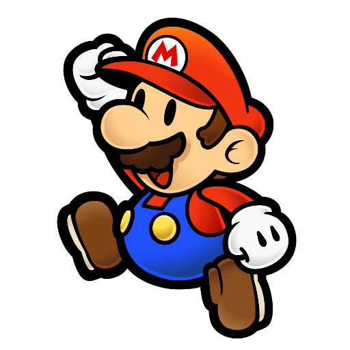 Gmod character png. Paper mario jumping spray